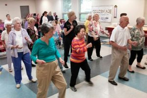 Line Dancing at Senior Center
